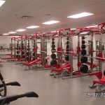 Power racks for a high school weight room
